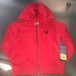 Boys or girls True Religion Hoodie Toddler 3T NWT